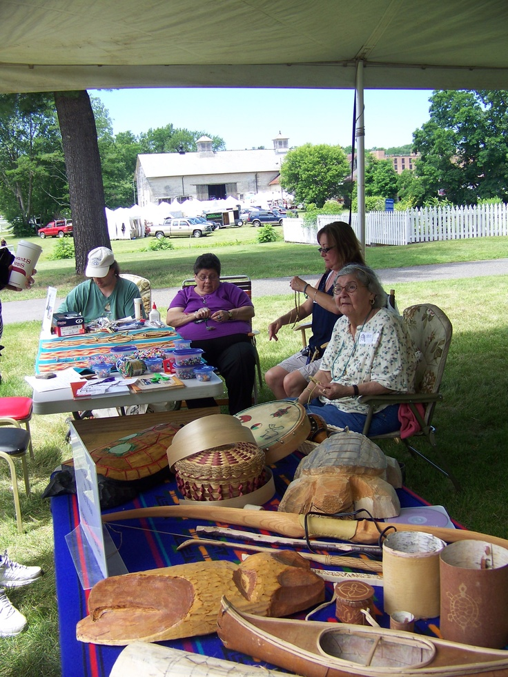 Members of the Abenaki First Nation demonstrating traditional crafts at our 2011 Summer Craft Fair.