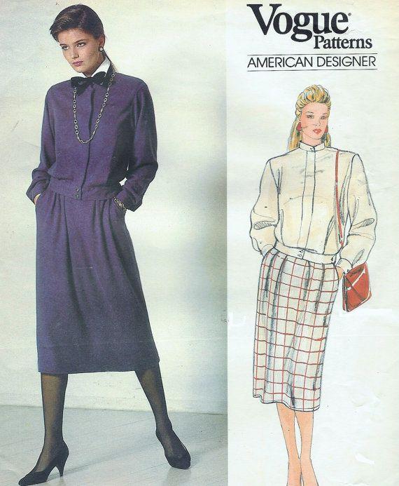 80s Oscar de la Renta Vogue Sewing Pattern 1186 by CloesCloset
