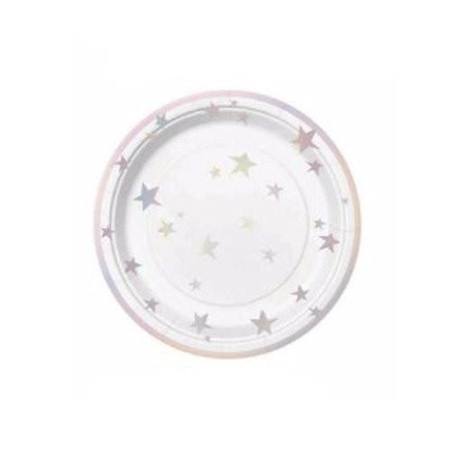 Holographic Star Plate, Holographic Paper Plates, Holographic Tableware, Unicorn Party Decor, Unicorn Party, Outer Space Party Decor, Spaceship Party Decor, Star Party Decor, Kids Party Ideas, Kids Party Supplies, Holographic Party Supplies,