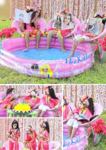 Girls Spa Party   Casa Spa Gardenia party   PinkGirlQ8