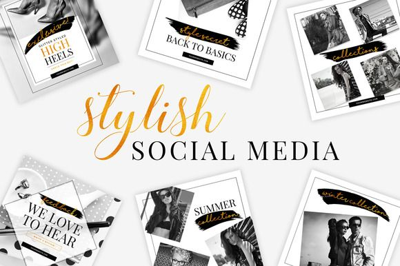 Stylish Social Media Pack by SNIPESCIENTIST on @creativemarket