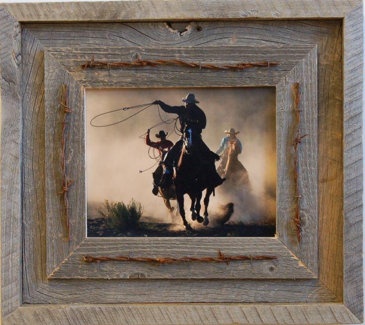 8x10 laramie style rustic barnwood frame