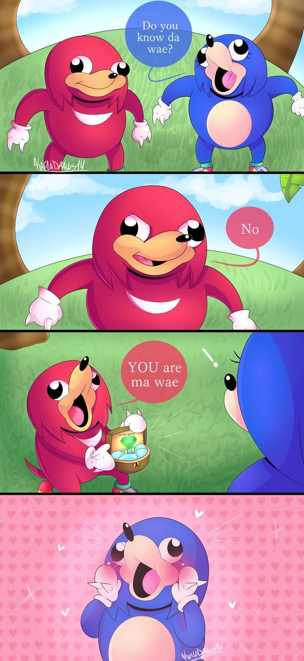 New comic!! of.... Uganda Knuckles xDD i based to create the comic on a friend comment and for this video: www.youtube.com/watch?v=sGTqmg… Uganda Knuckles wedding is beautiful, to the female...