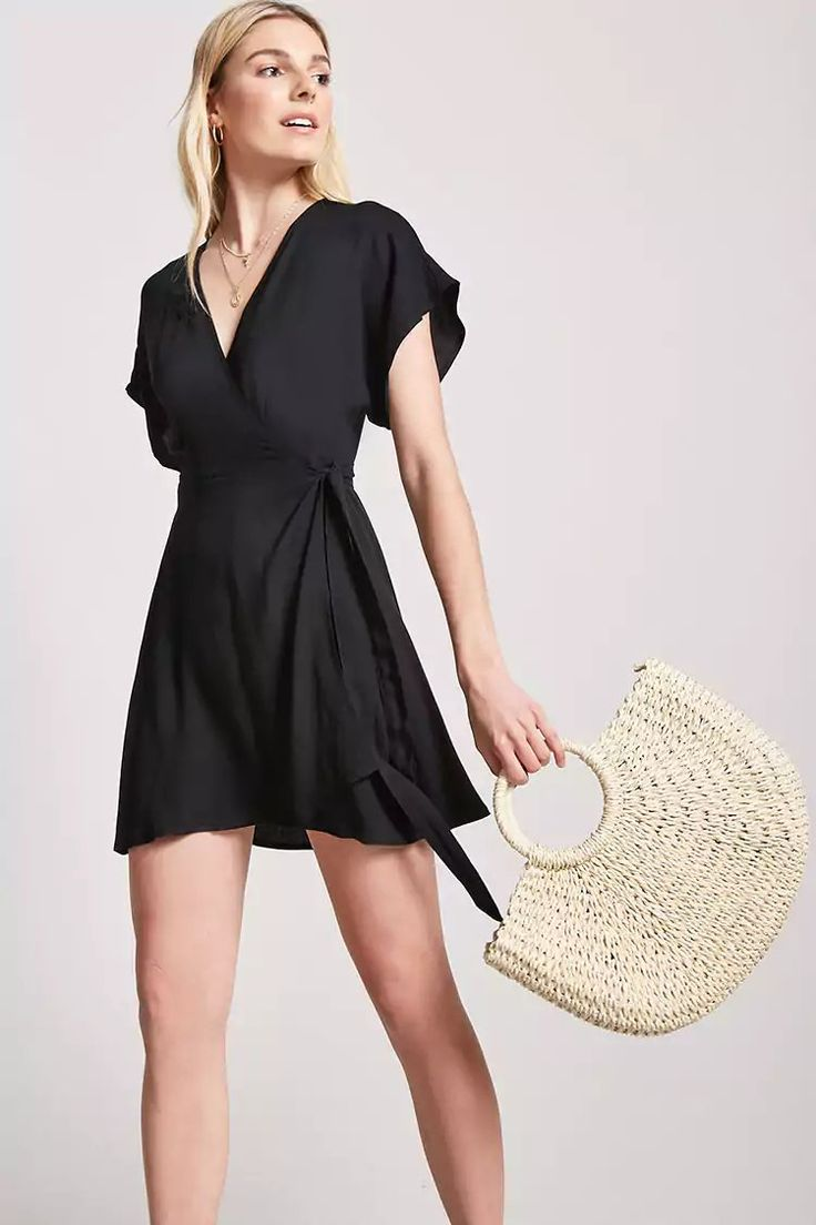 Product Name:Surplice Wrap-Front Dress, Category:dress, Price:19.9