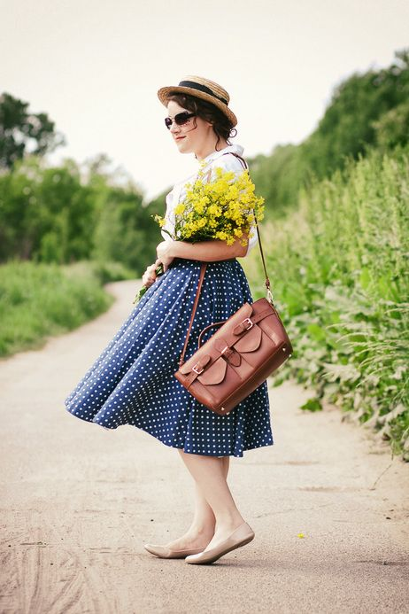 She is so ready for a delightful day out! #polkadots #summer
