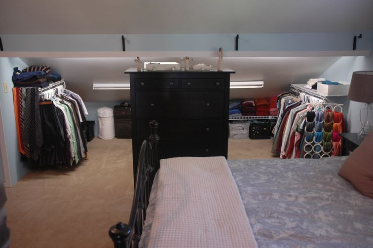 1000 Images About Attic Bedroom Knee Wall Closet Ideas