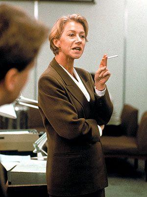 Helen Mirren in Prime Suspect. BA
