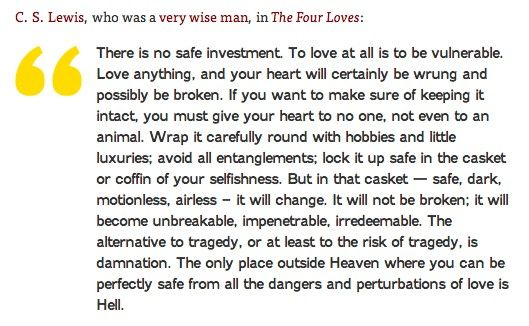 via Brain Pickings   What Is Love? Famous Definitions from 200 Years of Literary History - C.S. Lewis