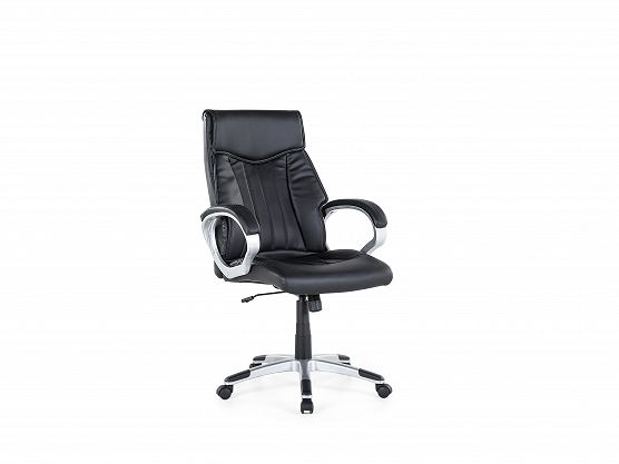 Office chair - Computer chair - Swivel - Synthetic leather - Black - TRIUMPH