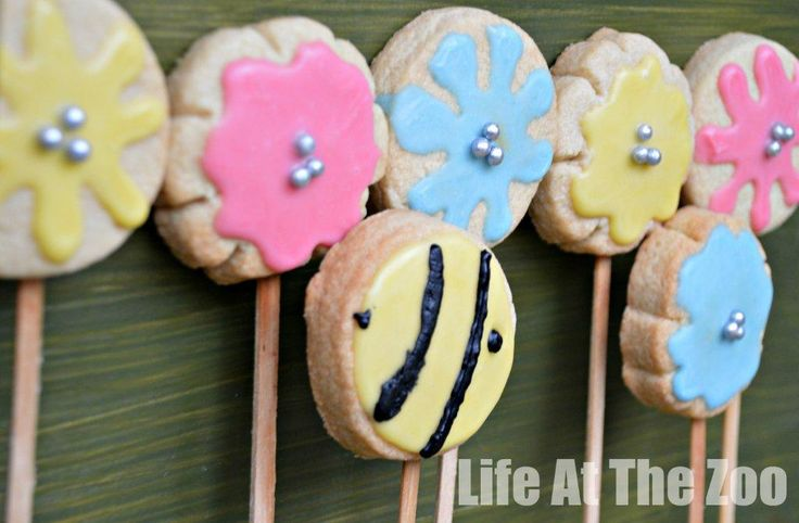 Flower Cookie pops - cheer up our dreary days... perfect for anyone thinking ahead to Spring already.