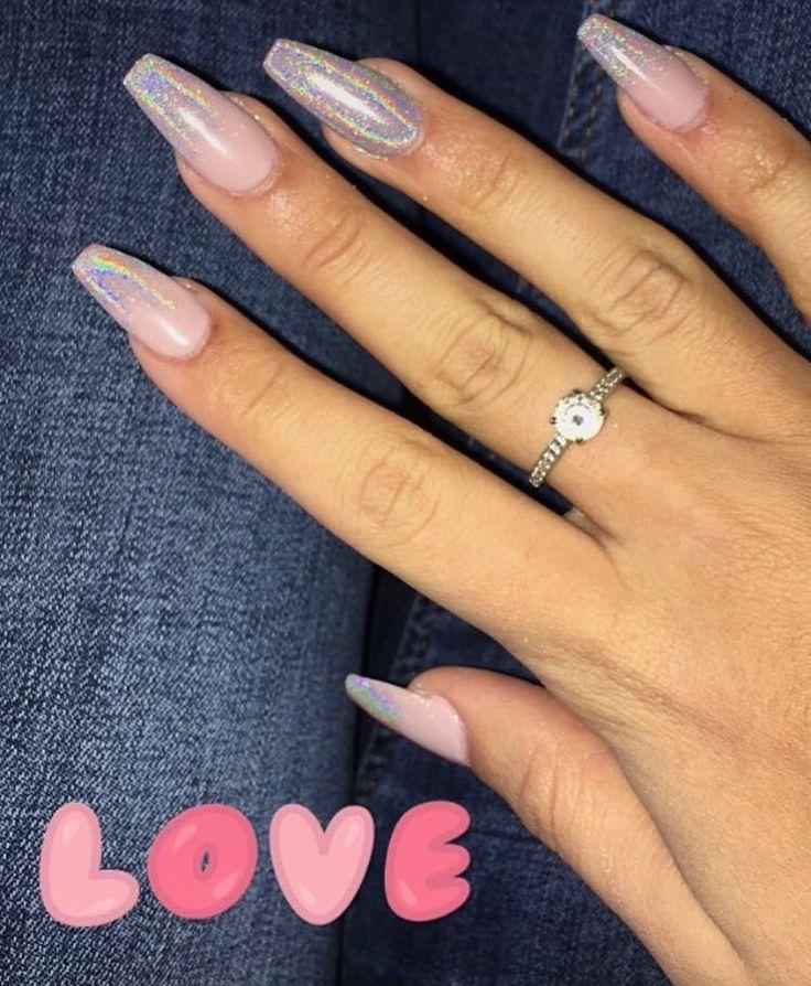 Ms de 25 ideas increbles sobre Coffin nails glitter en ...