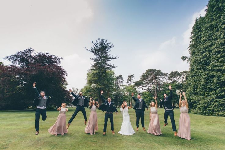 Bridesmaids and groomsmen, wedding photography | Hensol Castle, South Wales