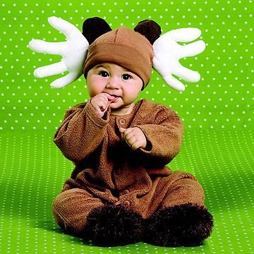 Do-It-Yourself                 * White cotton gloves stuffed with batting make perfect antlers.                 * Sew onto a brown cap. Fill the toes of brown baby socks with batting for ears and attach above antlers.