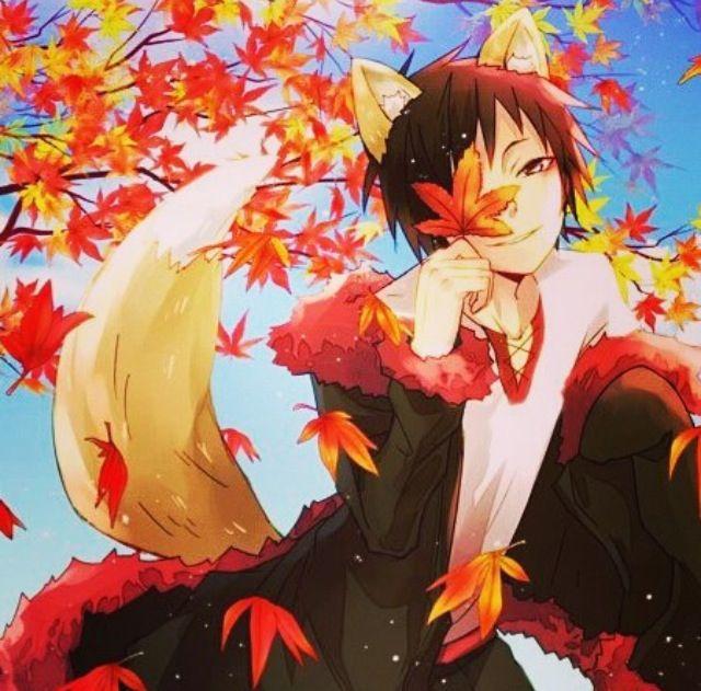 Картинки аниме мальчики лисы