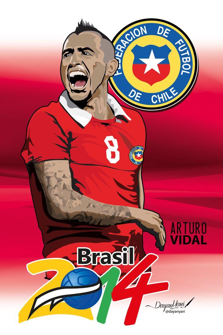 #arturovidal #brasil2014 #chile #ilustracion #illustration
