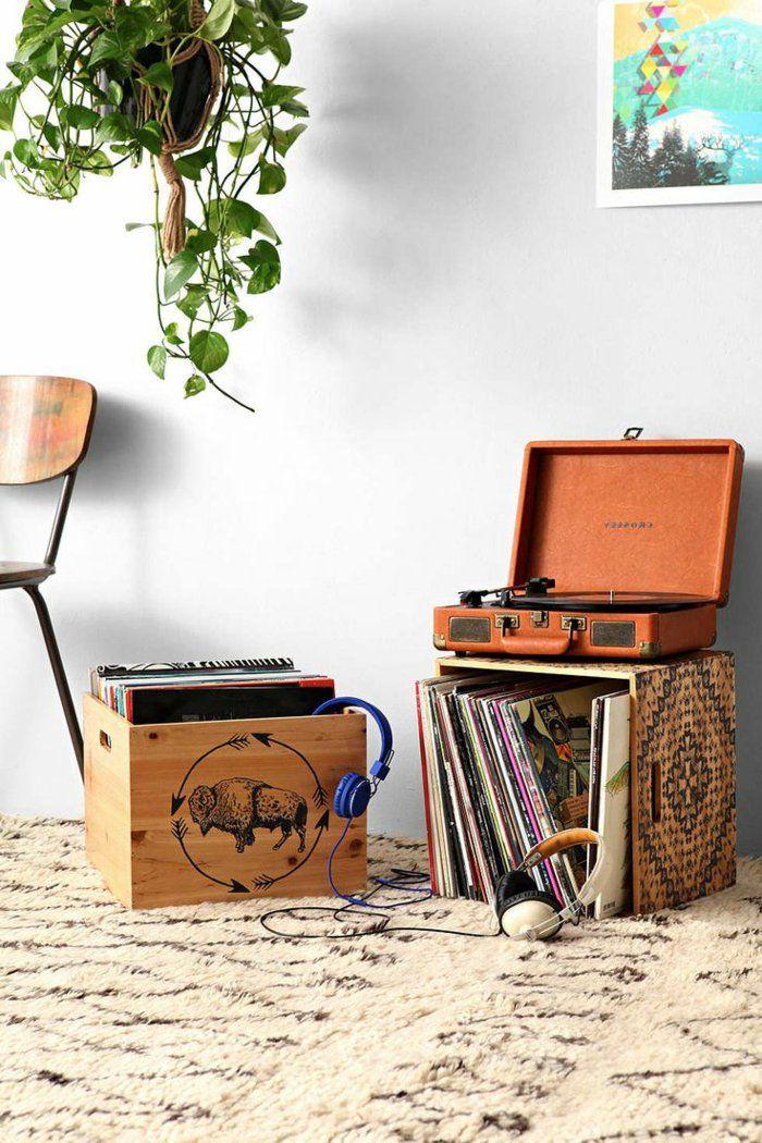 tourne disque vintage, platine vinyle portable