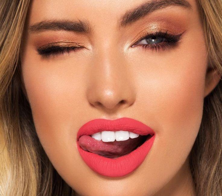 Картинка губы яркая помада