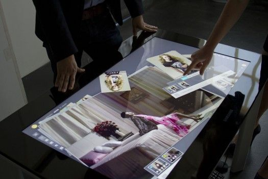 New digital light table app couples a multi-touch surface with Google Docs-style work tools.