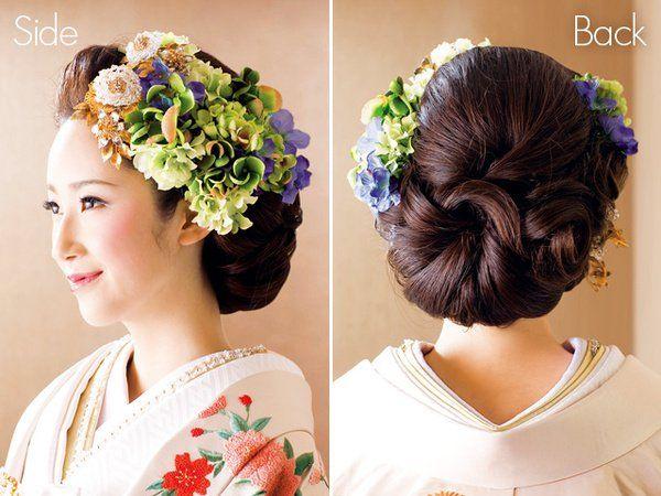 花嫁和装髪型カタログ!ヘアメイクは洋髪を合わせるのがトレンドの36番目の画像