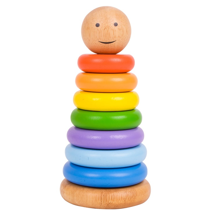Child S Wooden Stacking Coloured Rings
