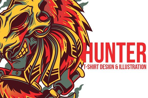 Hunter Illustration by badsyxn on @creativemarket . Cool T-Shirt Design Ready to Use Grab it Fast.. . #vector #editable #design #tshirt, #tees #cloth #clothingline #unique #awesome #cool #badass #nice #online #shop #brand #artwork #freelance #custom #apparel #product #bussiness #community #creativemarket #hunter #native #local #custom #red #warrior