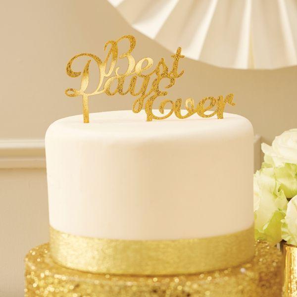 Tortenaufsatz - Best Day Ever - gold glitter - Cake Topper - sweetwedding - Hochzeitskarten, DIY, Hochzeitsdekoration, Einladungskarten zur Hochzeit, Gastgeschenke, Dekoration, Gästebücher, Stammbücher, Tischdekoration, Berlin