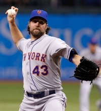 R.A. Dickey's knucklers can head towards the plate as fast as 80 MPH - amazing.