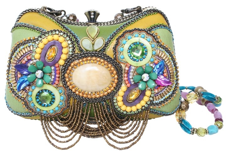 CLUTCH BAG CABOCHON Mary Frances Bag Lively - great color