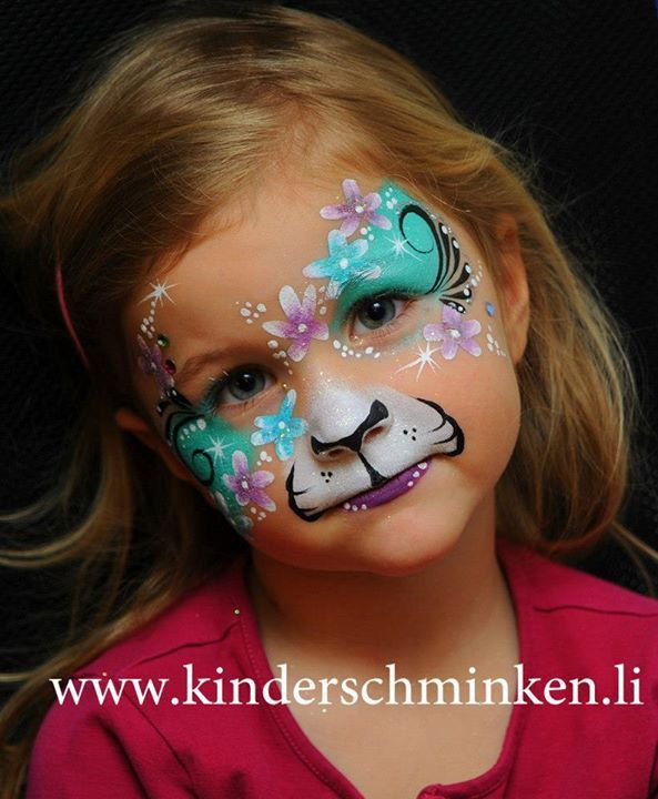 flower cat face painting