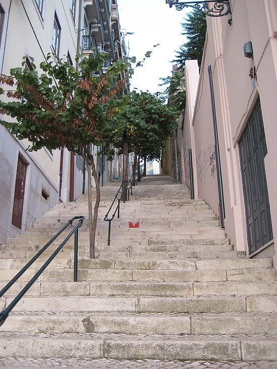 Lisbon stairs, Lisbon, Portugal