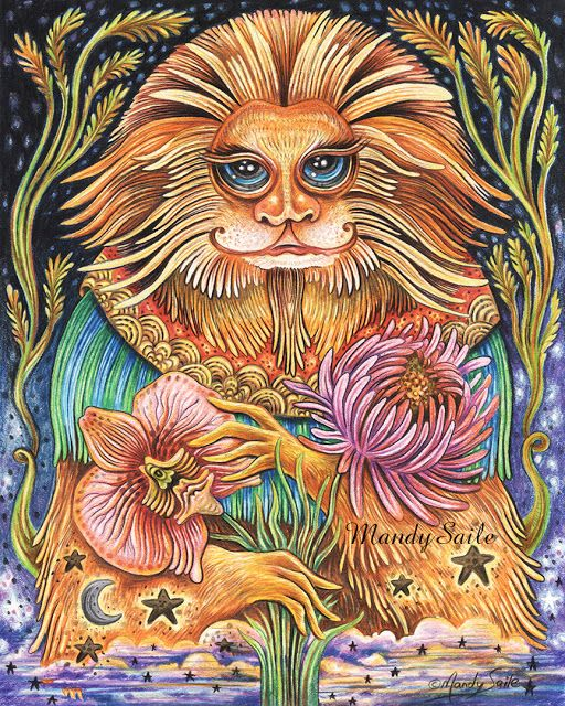 Mandy Saile - Creating Joyfully Whimsical Coloured Pencil Art Whiles Living With Happy House Rabbits: The Monkey King