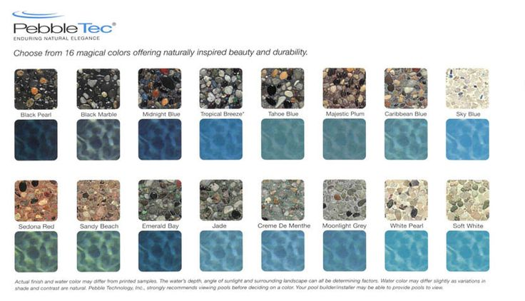 Pebble Tec Pool Colors Pebble Tec Finishes In My