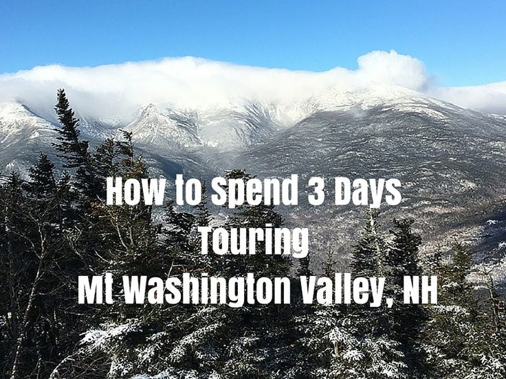 I suspect that Mt Washington Valley is one of New Hampshire's best kept secrets.It is home to ski resorts and outdoor enthusiasts love it.