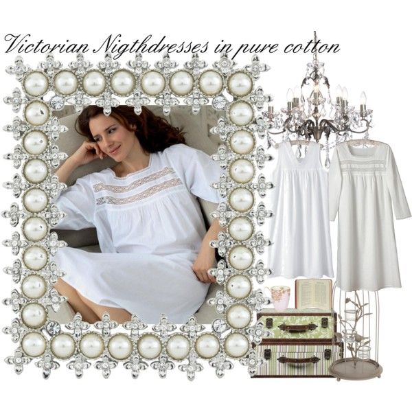 Victorian Nightdress - Cotton Nightwear -Victorian Nightwear, created by charlotteandco