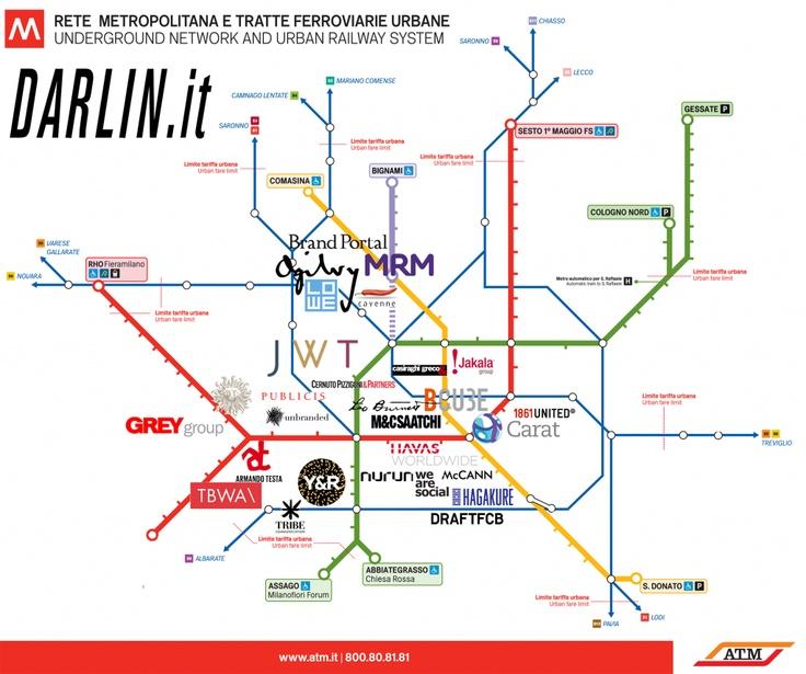 La mappa delle agenzie pubblicitarie a Milano
