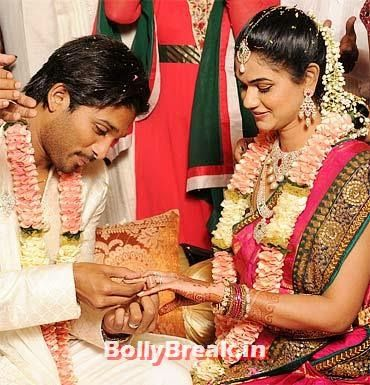 Allu Arjun and Sneha Reddy Tollywood Marriage Pics - South Indian Marriage Pics of Actresses & Actors - Pictures of South Cinema stars from Tollywood, Kollywood and Mollywood.  , #south #rambha #mamtamohandas #marriage #sneha #snehareddy #soundarya #karthi #prithviraj #aishwarya #ramcharanteja #upasanakamineni #dhanush #krishna #prasanna #prajithpadmanabhan #supriyamenon #indranpathmanathan #alluarjun #ranjini #ntrjr #lakshmipranathi #ashwinramkumar #janani #sathishkumar #sitara #saikumar…