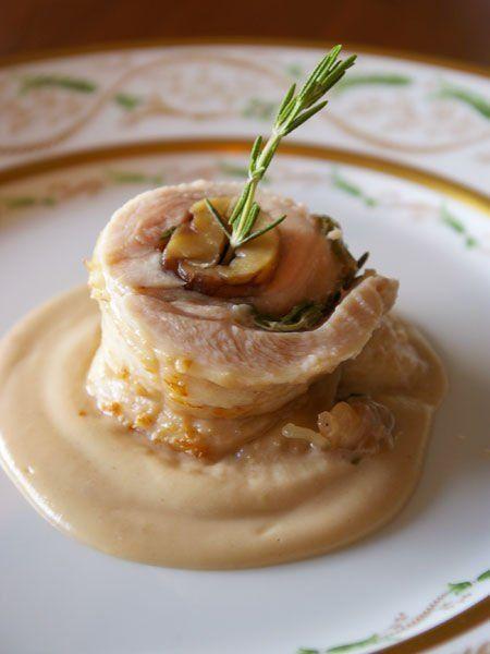 【ELLE a table】栗と鶏ロール 栗のソース添えレシピ|エル・オンライン