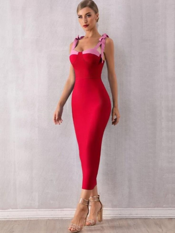 Pink Satin Sleek Bodycon Maxi Dress Split V Neck Prom Party Wedding Deluxe XS-XL