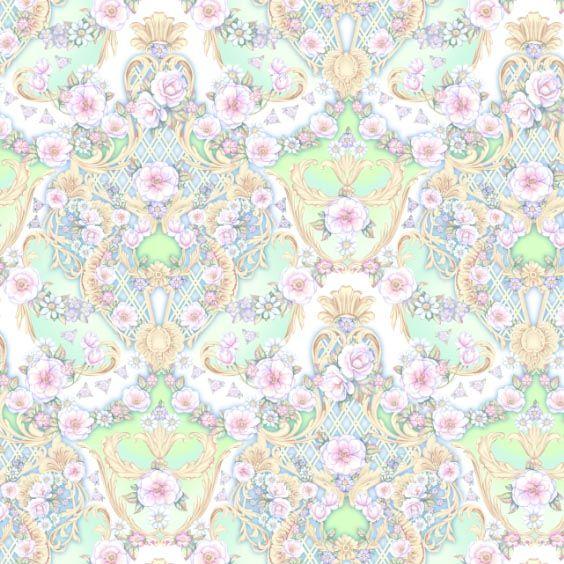 Seamless composition ` Fantasy of floral dance` by Maria Rytova  #pattern #textile #background #backing #paper #work #纹样 #damask #арт #картинки #picture #decoupage #декупаж #дамаск #узоры #barok #baroque #wallpaper #design #卷草 #flower #图案 #фон #print #принт #printable #papel #ornament  #seamless #golden #luxury #surface #rose #floral #decorative #decor #vintage #tile #бордюр #border
