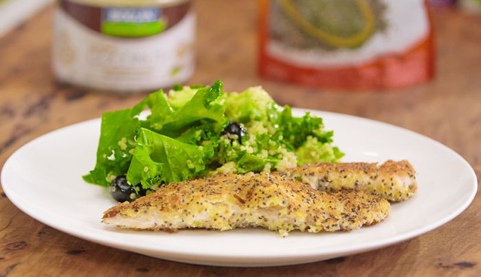 Coconut and Chia Seed Crumbed Fish