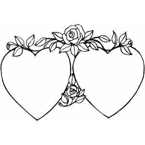 hearts and roses coloring pages enjoy coloring - Coloring Pages Hearts Roses