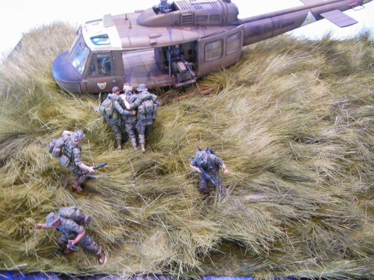 Huey Vietnam 1/35 Scale Model Diorama