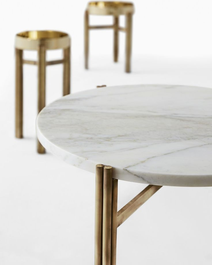 Round brass coffee table TWELVE | Round coffee table - @gallottiradice
