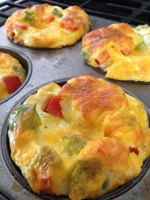 crustless quiche in jumbo muffin cups