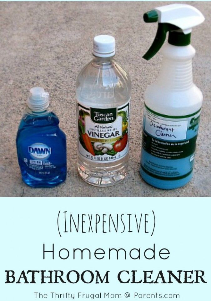 Inexpensive Homemade Bathroom Cleaner- a cleaner that you can feel good about using around your children!  Plus it's super simple to make!