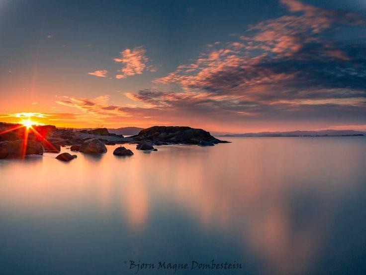 """Sunset at Varnestangen 23/8-2016"" Hi friends!  Here is my sunset shot from…"