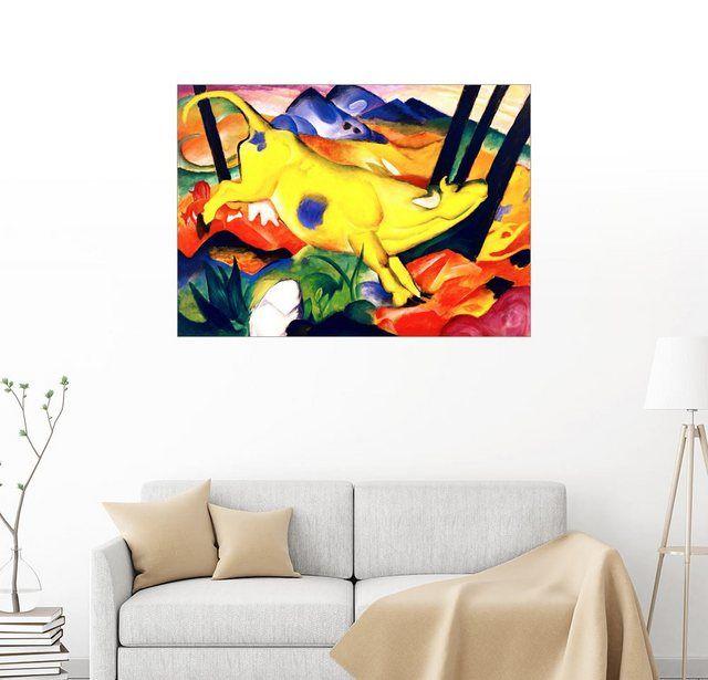Wandbild – Franz Marc »Gelbe Kuh«
