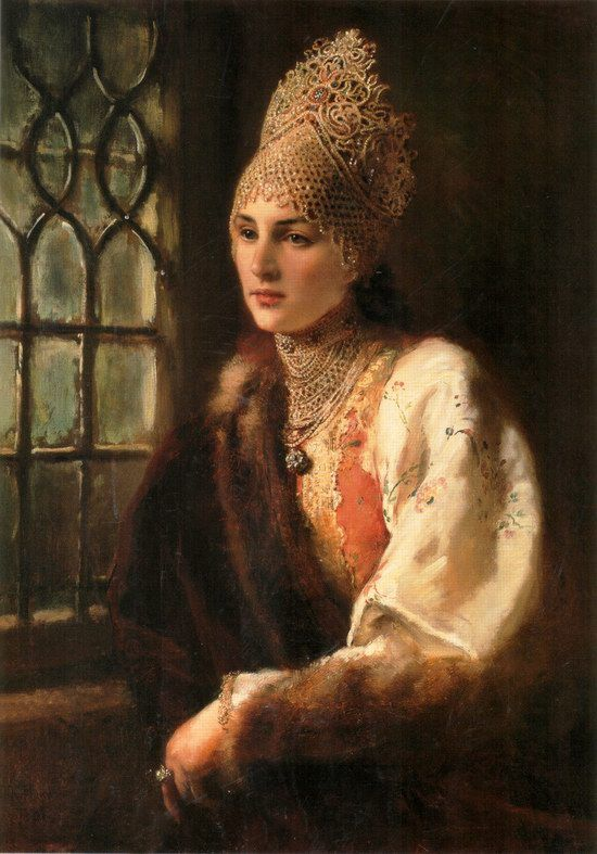 Russian beauty, Konstantin Makovsky painting 11