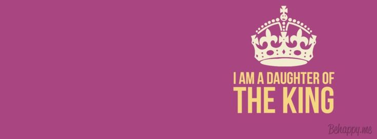 """In-your-face Poster """"I am a daughter of the king"""" #211184 - Behappy.me"""