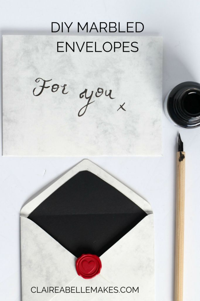 DIY Marbled Envelopes by Claireabellemakes